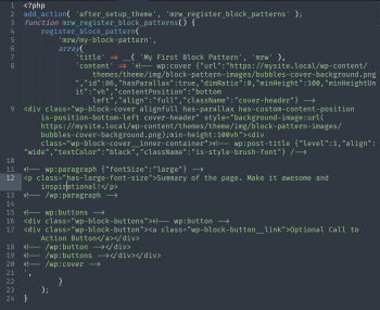 An ugly block of code that could be improved